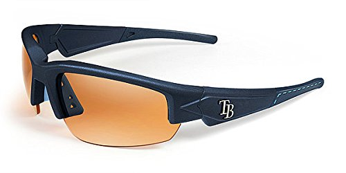 Tampa Bay Rays Sunglasses - Dynasty 2.0 Blue with Blue Tips & Light Blue Stich - Licensed MLB Baseball Gift