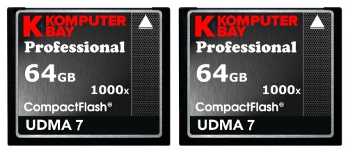 KOMPUTERBAY 2 PACK - 64GB Professional COMPACT FLASH CARD CF 1000X 155MB/s Read and 140MB/s write Extreme Speed... Black Friday & Cyber Monday 2014