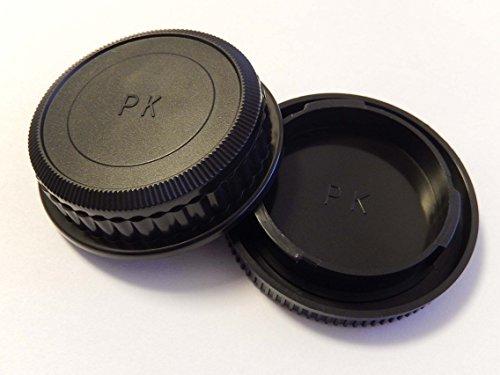 vhbw Objektiv Deckel Set mit K-System für Kamera Pentax K-01, K-5, K-5II, K-5IIs, K-7, K-30, K-50, K-m, K-r, K-x, K10D, K20D, K100D, K200D, K-500*istD