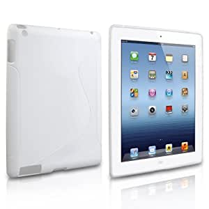 Yousave Accessories TM White S-Line Silicone Gel Grip Series Case Cover For The Apple iPad 3 Third Generation