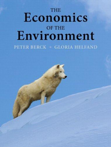 The Economics of the Environment