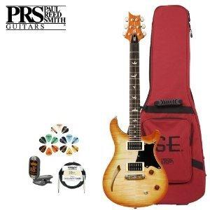 Paul Reed Smith Guitars Cmshvn-Kit-3 Se Cmshvn Custom Semi-Hollow Body Vintage Natural Electric Guitar With Tuner, Cable, Picks And Gig Bag
