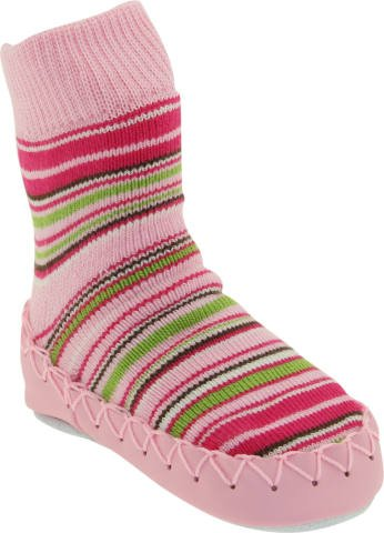 Cheap Nowali – Pink Striped Moccasin (Pink/green Stripes), Euro 24/25 (2y-3y) (0656/0012/2425 – pink – 2y)