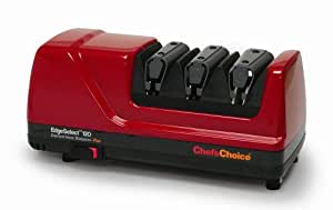 Chef's Choice 120 Diamond Hone 3-Stage Professional Knife Sharpener, Red
