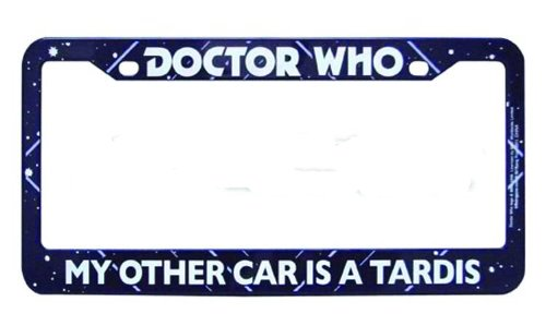 Doctor Who My Other Car is a Tardis License Plate