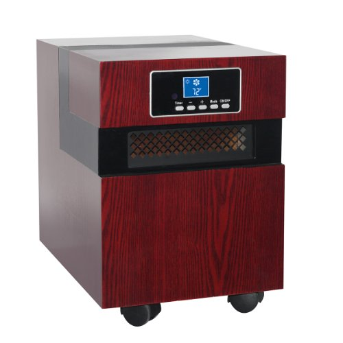 Homeleader Remote Control Infrared Quartz Heater, 1500 Watts Portable Space Heater, Wooden Cabinet