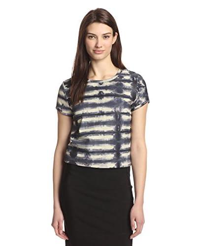 Nicole Miller Women's Tie Dye Leather Tee