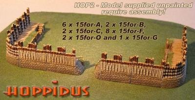 Hoppidus (15mm Ancient): Marian Roman Fortified Camp (Round Corners)