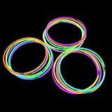 "22"" Glowsticks Light Stick Necklaces Mixed Colors (100 Necklaces)"
