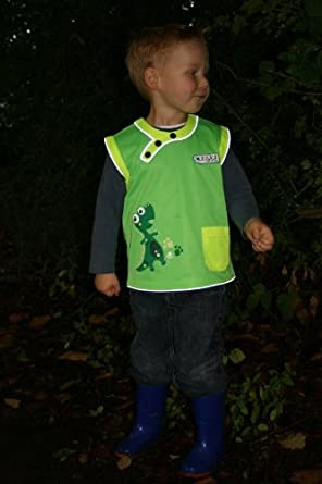 Stand Out Kids High Visibility Vest for Toddlers - DINOSAUR - MEDIUM