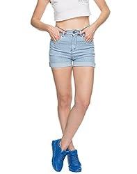 TARAMA Light Blue Shorts for womens