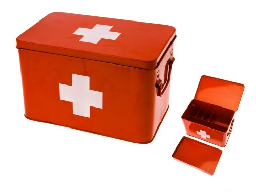 Best Medicine Cabinets: Present Time Red with White Cross