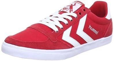 hummel HUMMEL SLIMMER STADIL LOW 63-112-4008, Unisex-Erwachsene Sneaker, Rot (RIBBON/WHITE 4008), EU 37