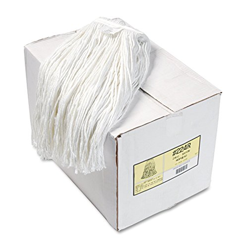 UNISAN Premium Cut-End Wet Mop Heads, Rayon, 24-Ounces, White, 12/Carton (224RCT) (24oz Rayon Wet Mops compare prices)