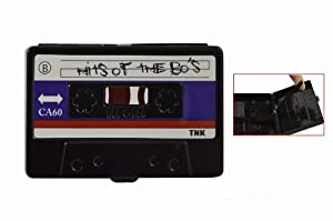 Música creativa de metal Cassette Estilo de Tarjeta de Crédito Caja de la baratija de almacenamiento de cigarrillos Carcasa