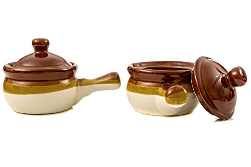New Gibson French Onion Soup Crock Bowls With Handles Set