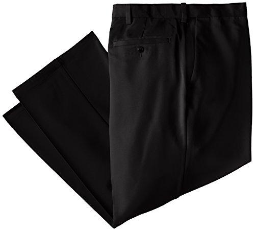 Haggar Men's Big-Tall Cool 18 Hidden Expandable Waist Plain Front Pant,Black,54x30