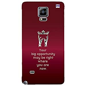 Big Opportunity - Mobile Back Case Cover For Samsung Galaxy Note 4 Edge
