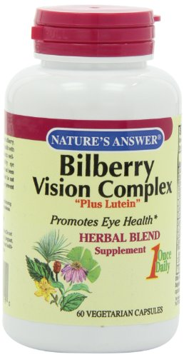Nature'S Answer Bilberry Vision Complex Vegetarian Capsules, 60-Count