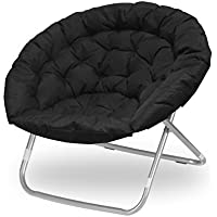 Urban Shop Oversized Saucer Kids Chair (Black)