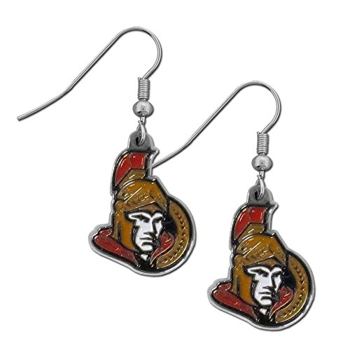 NHL Ottawa Senators Women's Chrome Dangle Earrings (Ottawa Co compare prices)