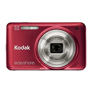 Kodak Easyshare M5350 16 MP Digital Camera with 5x Optical Zoom and 2.7-Inch LCD (Red)