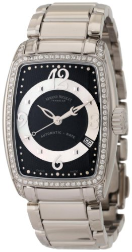 Armand Nicolet Women's 9631L-NN-M9631 TL7 Classic Automatic Stainless-Steel with Diamonds Watch