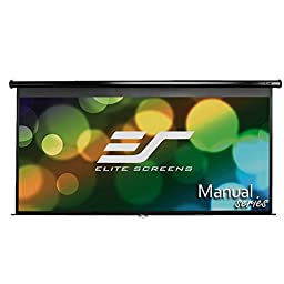 Elite Screens Manual, 128-inch 2.35:1, Pull Down Projection Manual Projector Screen with 20-inch Drop, M128UWC-E20
