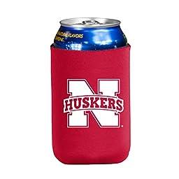 NCAA Nebraska Cornhuskers Flat Drink Coozie