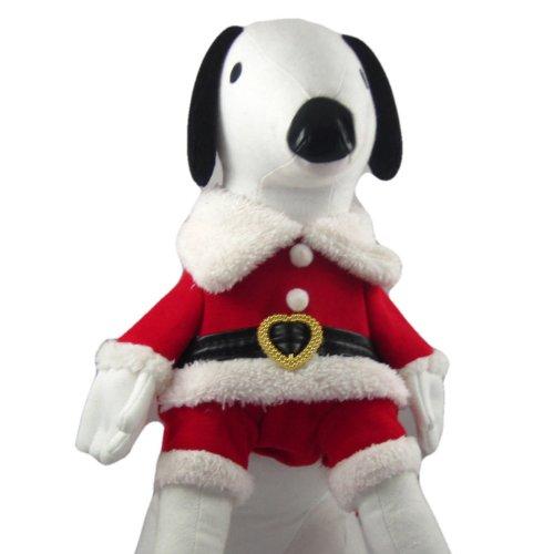 Alfie Couture Designer Pet Apparel - Christmas Santa Claus Suit Costume - Color: Red, Size: Xs front-815194