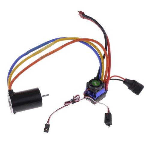 Neewer® 540/3T 5200Kv Sensorless Brushless Motor And 60A Speed Controller Esc For 1/10 Rc On-Road / Off-Road Car