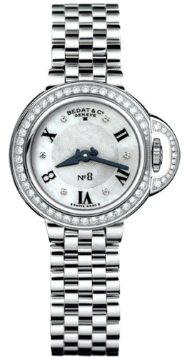 Bedat No. 8 Diamond Mother of Pearl Guilloche Dial Ladies Watch 827.041.909