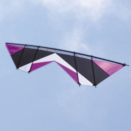 Revolution Shockwave Purple Black White Quad Line Stunt Kite Made in the USA