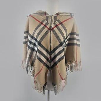 Burberry Nova Check Hooded Poncho at Amazon Women's Clothing store