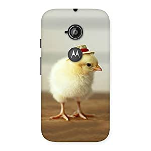 Gorgeous Hat Chik Back Case Cover for Moto E 2nd Gen