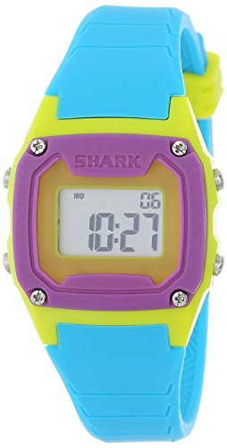 Freestyle watch SHARK CLASSIC MID SILICONE 10 ATM water resistant Green ~ Purple 102274 Ladies (Purple Shark Freestyle Watch compare prices)
