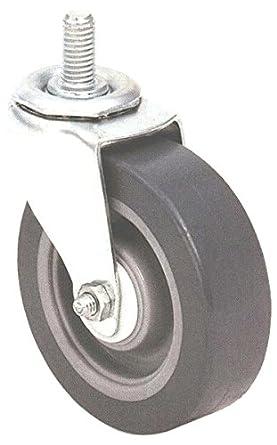 E.R. Wagner Stem Caster, Swivel, TPR Rubber on Polyolefin Wheel