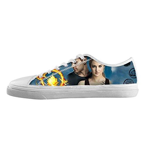 RenBen Non-slip plimsolls Custom Divergent Women's Canvas Shoes Footwear Sneakers Flat Shoes