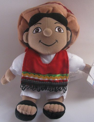 Disney Bean Bag Plush It's a Small World Mexico Boy - 1