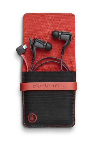 Plantronics Backbeat Go 2 Bluetooth Wireless Stereo Earbuds With Charging Case - Retail Packaging - Black
