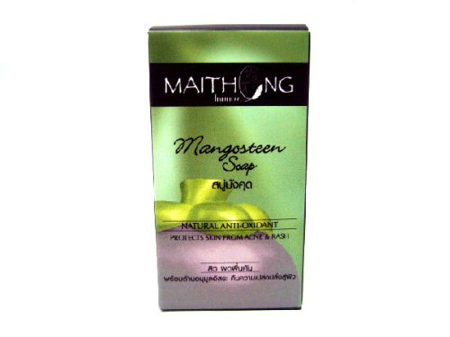Maithong Mangosteen Natural Herbal Anti-oxidant Aha Soap Prevent Acne & Rash Made in Thailand