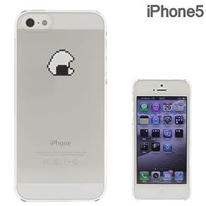 [SoftBank/au iPhone 5専用]Applusアップラスハードクリアケース(8bit オニギリ)