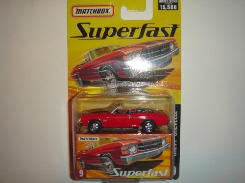2005 Matchbox Superfast Chevy Chevelle Convertible Red #9 - 1