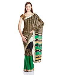 Urban Vastra Net  Saree With Blouse Piece (20352IWUV_Multi-Color)