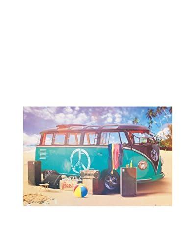 ArtopWeb Pannello Decorativo Freedom Vw Camper Van