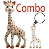 Vulli Sophie the Giraffe Teether In Gift Box - Plus A Giraffe Teething Ring Key Chain