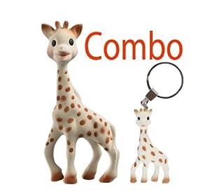 Vulli Sophie the Giraffe Teether In Gift Box - Plus A Giraffe Teething Ring Key Chain