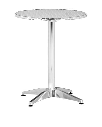 Zuo Outdoor Christabel Round Folding Table, Silver