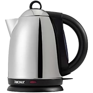 Aroma AWK-115S Hot H20 X-Press 1-1/2-Liter Cordless Water Kettle