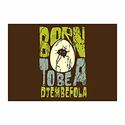 Teeburon Born to be a Djembe Pack of 4 Decal